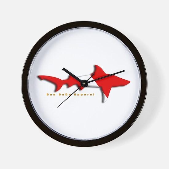 Shark Diving Flag Wall Clock