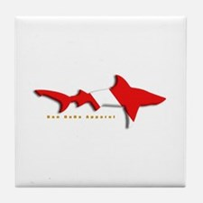 Shark Diving Flag Tile Coaster