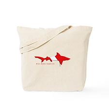 Shark Diving Flag Tote Bag