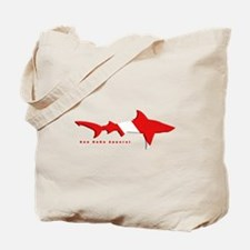 Shark Diving Flag Tote Bag