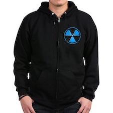 Blue Radiation Symbol Zip Hoody