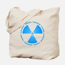 Blue Radiation Symbol Tote Bag