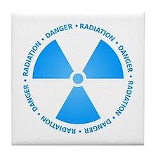 Blue Radiation Symbol Tile Coaster