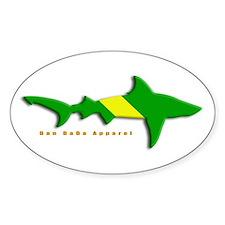 Shark Nitrox Diving Flag Oval Decal