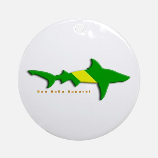 Shark Nitrox Diving Flag Ornament (Round)