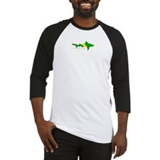 Shark Nitrox Diving Flag Baseball Jersey