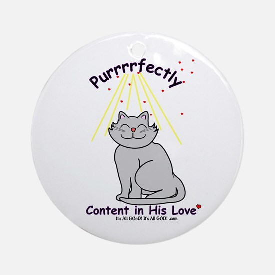 Purrrfectly content Ornament (Round)
