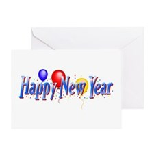 Happy New Year Balloons Greeting Card