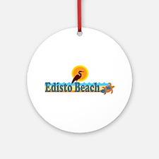 Edisto Beach SC - Beach Design Ornament (Round)
