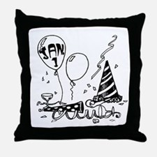 January 1st New Year Throw Pillow