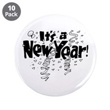 """It's A New Year 3.5"""" Button (10 pack)"""