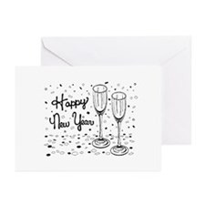 New Years Drinks Greeting Cards (Pk of 20)