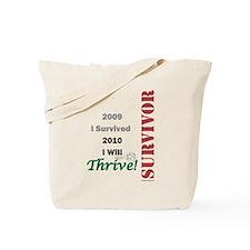 I Survived 2009 Tote Bag
