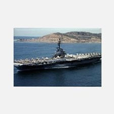 CV 16 Ship's Image Rectangle Magnet