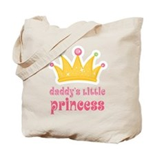 Pink Daddy's Little Princess Tote Bag
