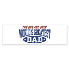 World's Greatest Dad Bumper Bumper Sticker