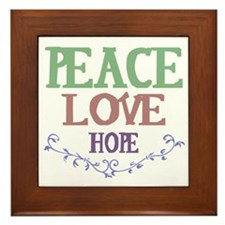 Peace Love Hope Framed Tile