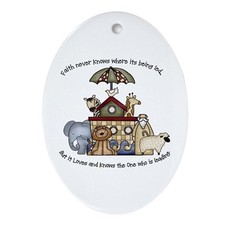 Noah Oval Ornament