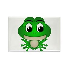 Frankie The Frog Rectangle Magnet