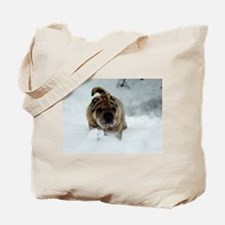 Snow Shar-Pei Tote Bag