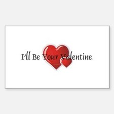 Your Valentine Rectangle Decal