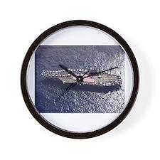 USS Nimitz Ship's Image Wall Clock