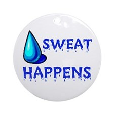 WORK UP A SWEAT - Ornament (Round)