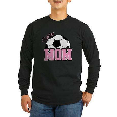 Soccer Mom (Pink) Long Sleeve Dark T-Shirt