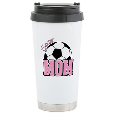 Soccer Mom (Pink) Stainless Steel Travel Mug