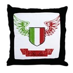 Vintage Italia Flag Wings Throw Pillow