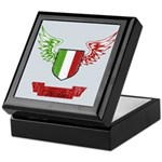 Vintage Italia Flag Wings Keepsake Box