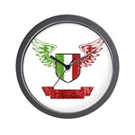 Vintage Italia Flag Wings Wall Clock