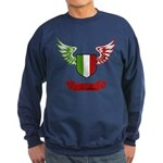 Vintage Italia Flag Wings Sweatshirt (dark)