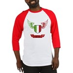 Vintage Italia Flag Wings Baseball Jersey
