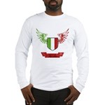 Vintage Italia Flag Wings Long Sleeve T-Shirt