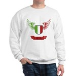 Vintage Italia Flag Wings Sweatshirt
