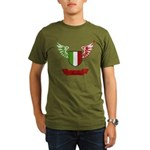 Vintage Italia Flag Wings Organic Men's T-Shirt (d