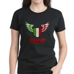 Vintage Italia Flag Wings Women's Dark T-Shirt