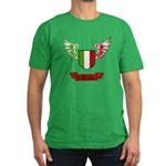 Vintage Italia Flag Wings Men's Fitted T-Shirt (da