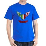 Vintage Italia Flag Wings Dark T-Shirt