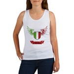 Vintage Italia Flag Wings Women's Tank Top