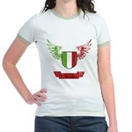 Vintage Italia Flag Wings Jr. Ringer T-Shirt