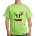 Vintage Italia Flag Wings Green T-Shirt