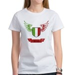 Vintage Italia Flag Wings Women's T-Shirt