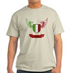 Vintage Italia Flag Wings Light T-Shirt