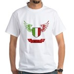 Vintage Italia Flag Wings White T-Shirt