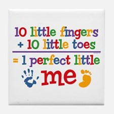 Fingers and Toes Tile Coaster