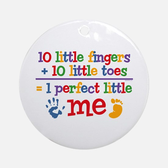 Fingers and Toes Ornament (Round)