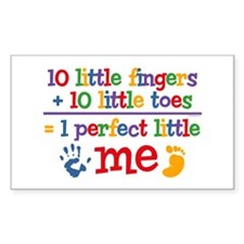 Fingers and Toes Rectangle Decal