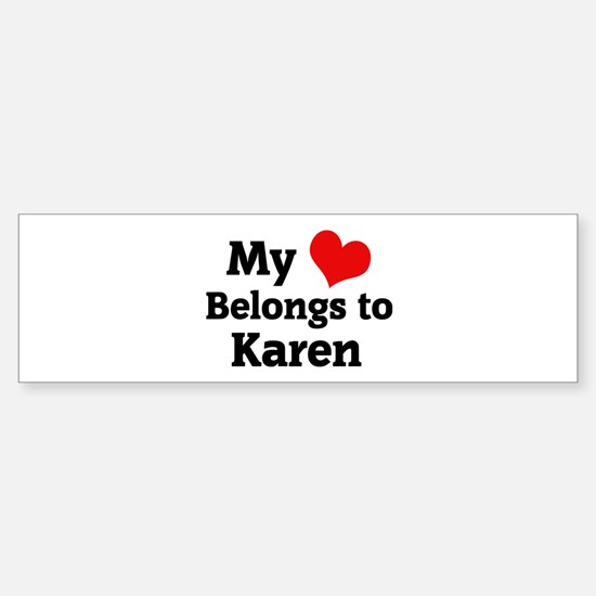 My Heart: Karen Bumper Car Car Sticker